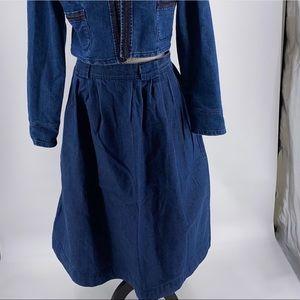 🆕🆙Vintage Denim Maxi Skirt